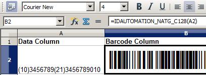 Linear Barcode Generator for OpenOffice