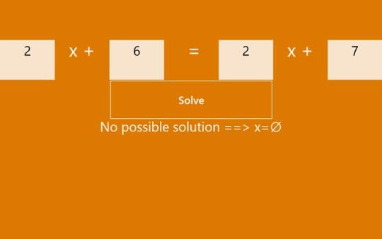Linear Equation Solver for Windows 8