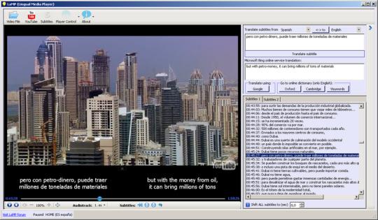 Lingual Media Player