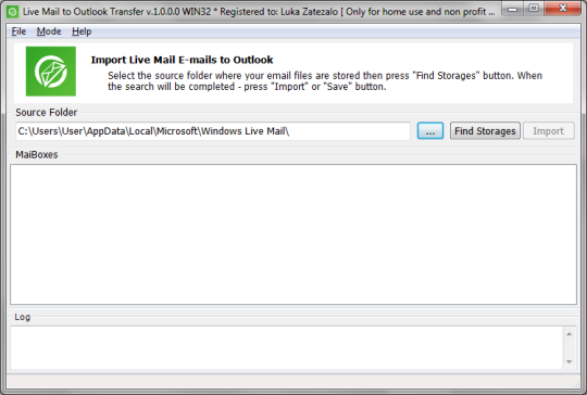 Live Mail to Outlook Converter