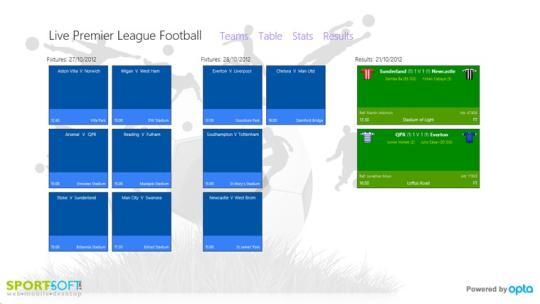 Live Premier League Football for Windows 8