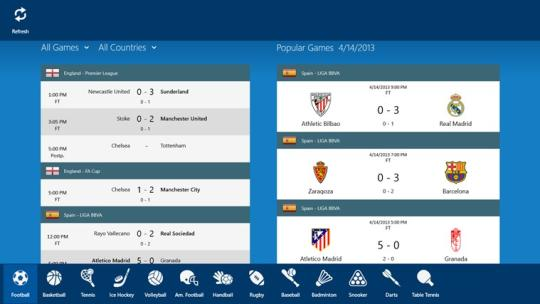 LiveScore SofaScore for Windows 8