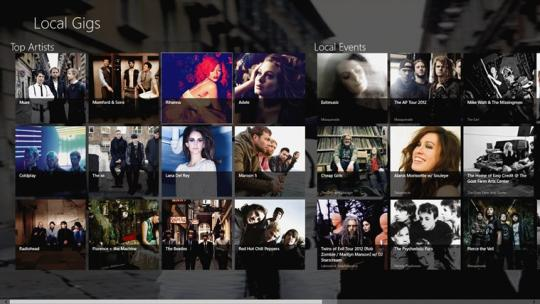 Local Gigs for Windows 8