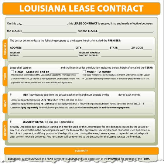 Louisiana Lease Contract