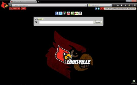 Louisville Cardinals Theme for Firefox