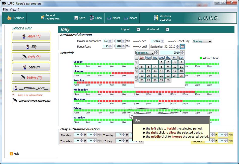 LUPC: Set time limits on Windows, games