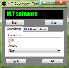 M.T Countdown Tool