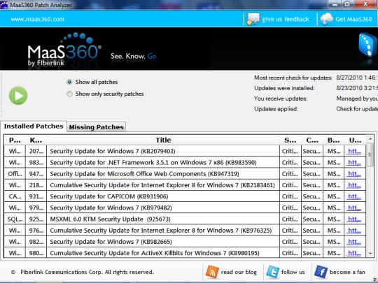 MaaS360 Patch Analyzer