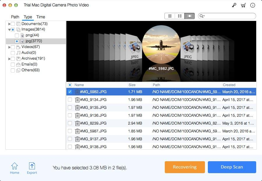 Mac Digital Camera Photo Video Recovery