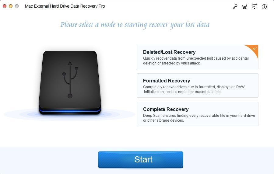 Mac External Hard Drive Data Recovery Pro