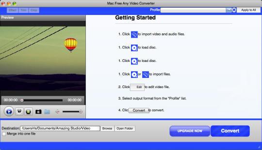Mac Free Any Video Converter