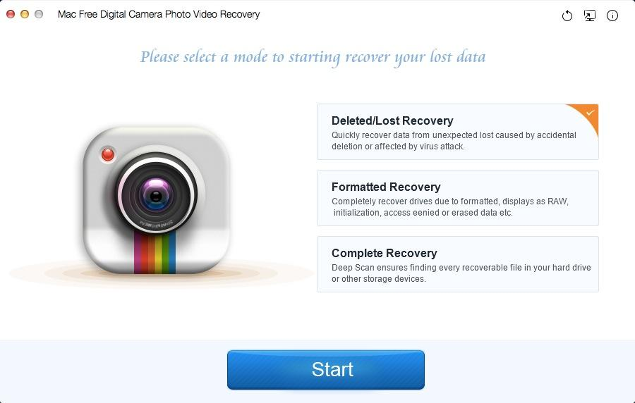 Mac Free Digital Camera Photo Video Recovery
