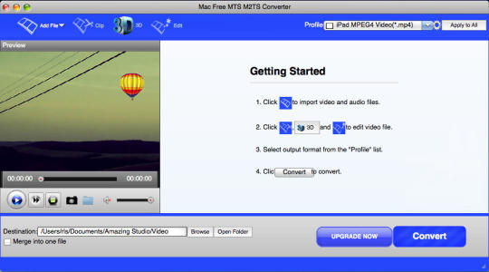 Mac Free MTS M2TS Converter
