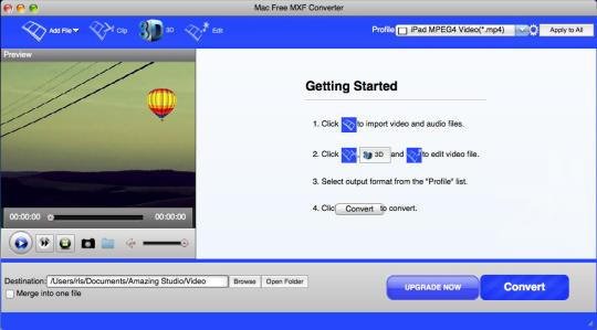 Mac Free MXF Converter