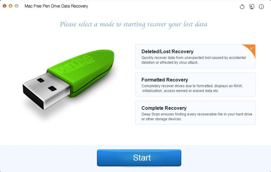 Mac Free Pen Drive Data Recovery