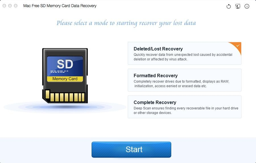 Mac Free SD Memory Card Data Recovery