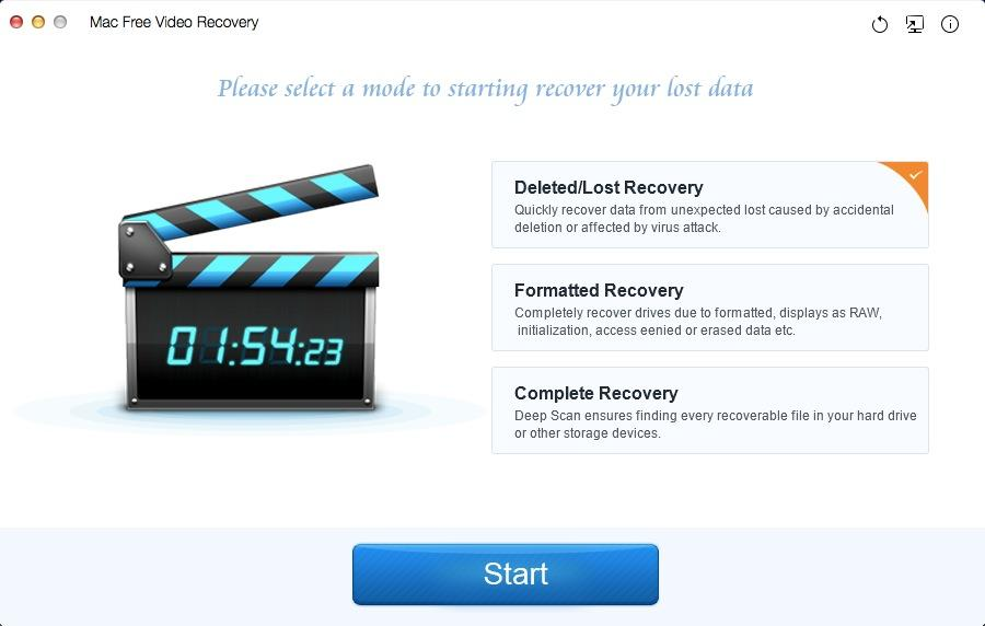 Mac Free Video Recovery