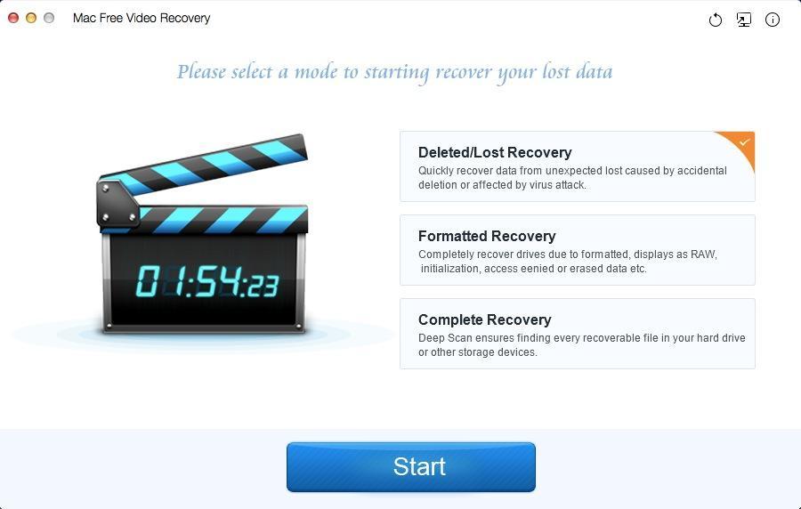 Mac Free Video Recovery