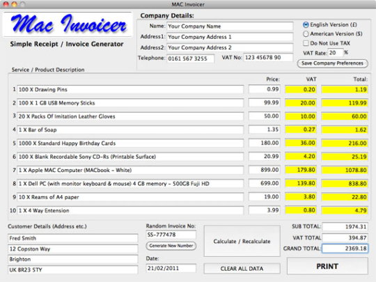 MAC-Invoicer