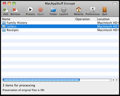 MacAppStuff Encrypt