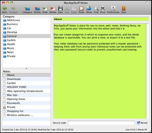 MacAppStuff Notes
