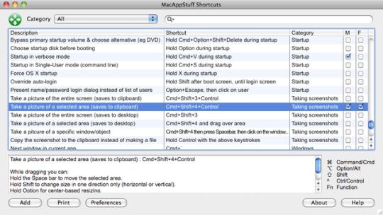 MacAppStuff Shortcuts