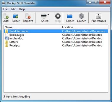 MacAppStuff Shredder (Windows)