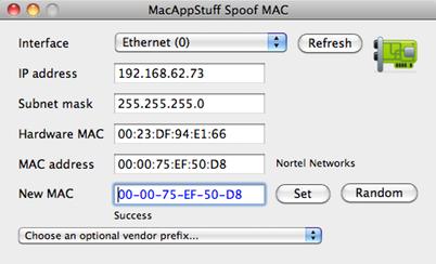 MacAppStuff Spoof MAC