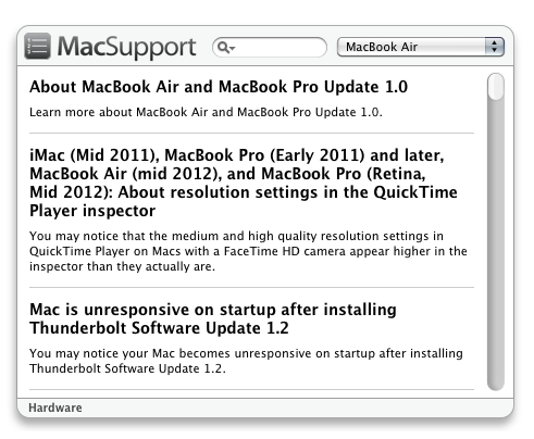 MacSupport - Hardware
