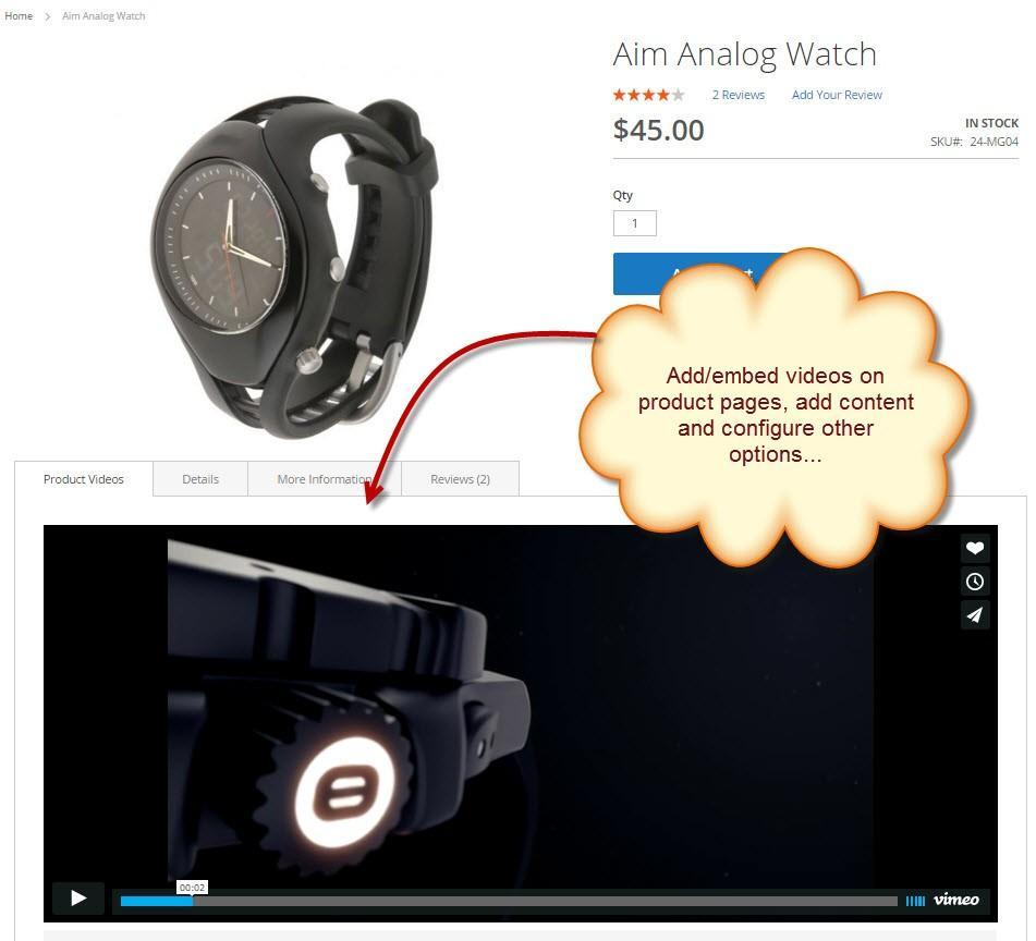 Magento 2 Product Video Plugin