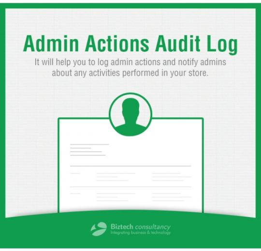 Magento Admin Actions Audit Log