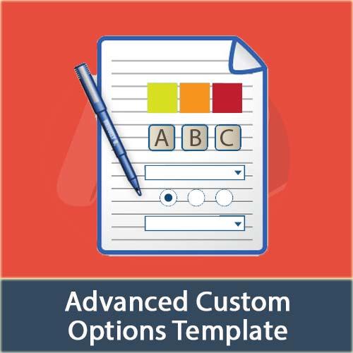 Magento Advanced Product Custom Options Template