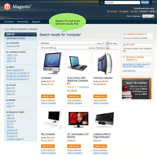 Magento Advanced Search Pro