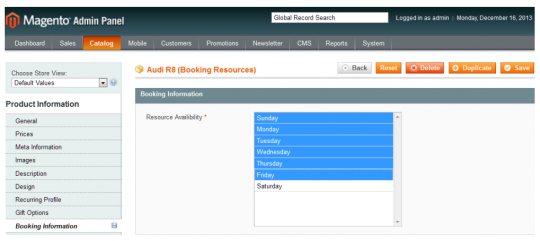 Magento Booking and Reservation Extension - BookAny