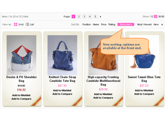 Magento Improved Sorting