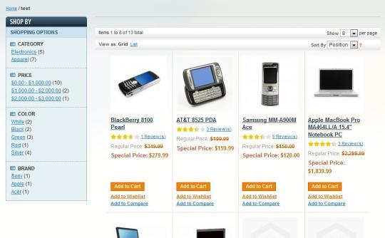 Magento Widget Tag Products