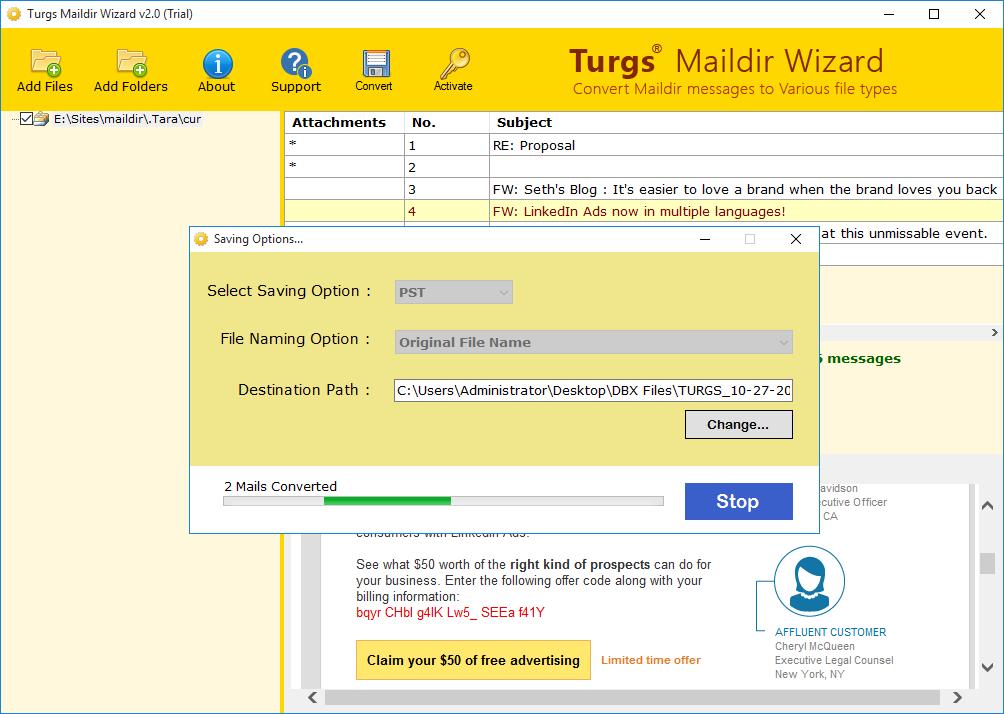 Maildir to NSF Wizard