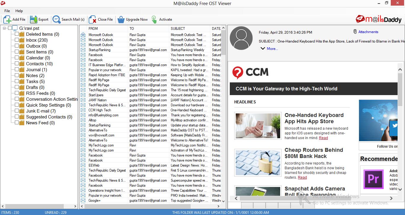 MailsDaddy Free OST Viewer