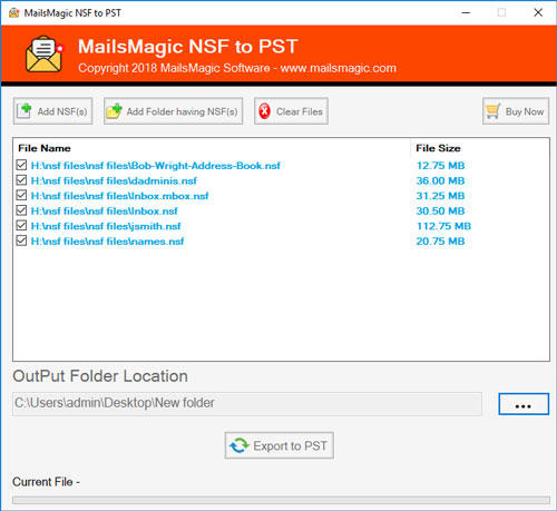 MailsMagic NSF to PST