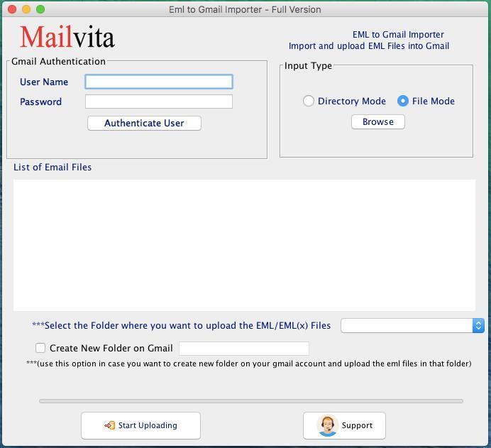 Mailvita EML to Gmail Importer