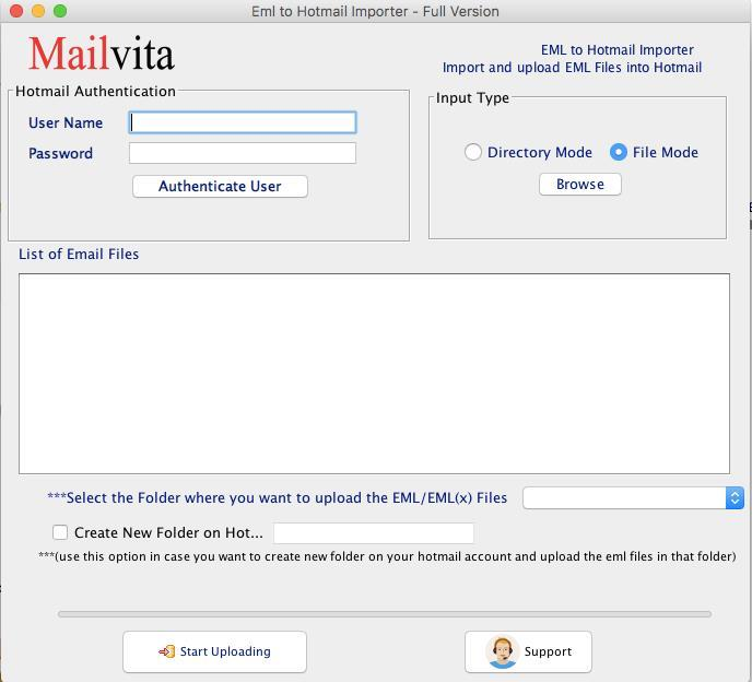 Mailvita EML to Hotmail Importer