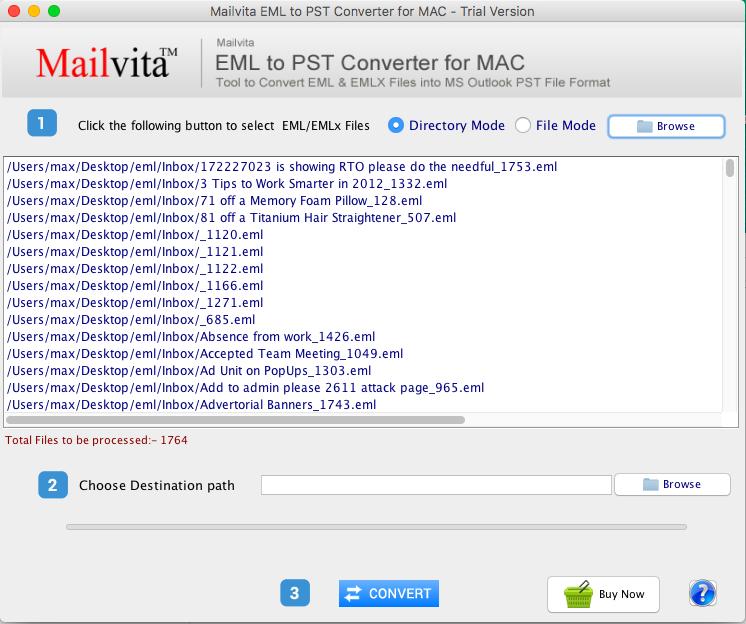 Mailvita EML to PST Converter