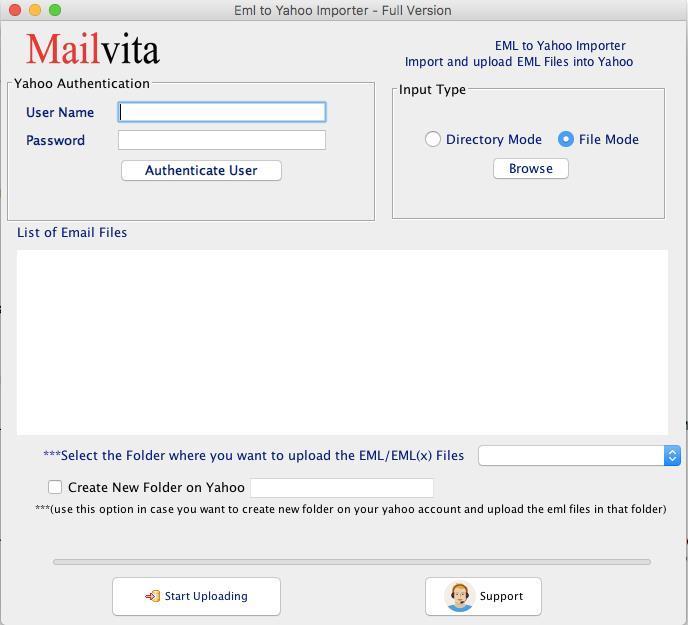 Mailvita EML to Yahoo Importer