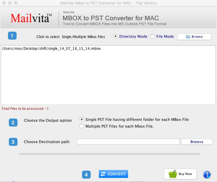 Mailvita MBOX to PST Converter