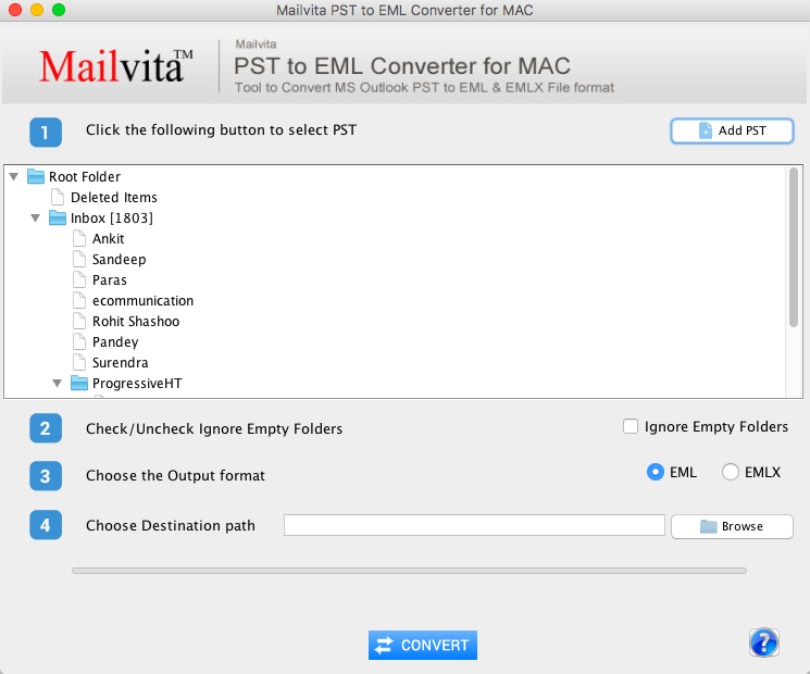 Mailvita PST to EML Converter