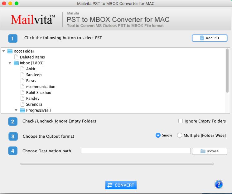 Mailvita PST to MBOX Converter