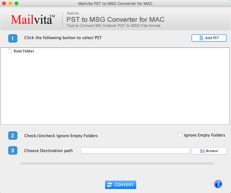 Mailvita PST to MSG Converter