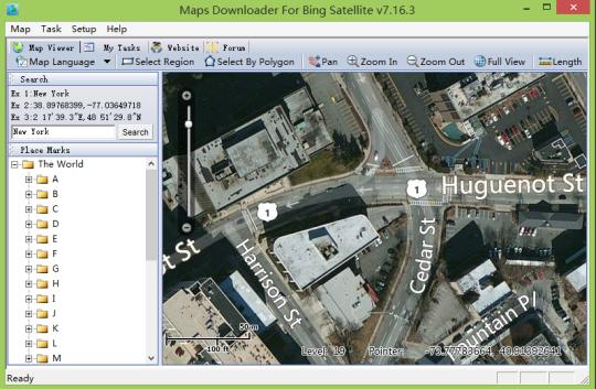 Maps Downloader For Bing Satellite
