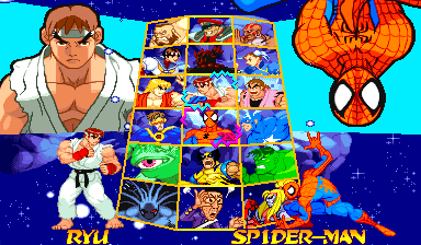 Marvel Super Heroes and Street Fighter