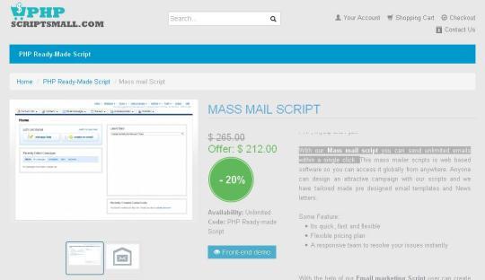Mass mail script